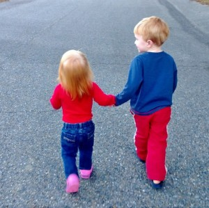 Phoebe and George go walking (2)