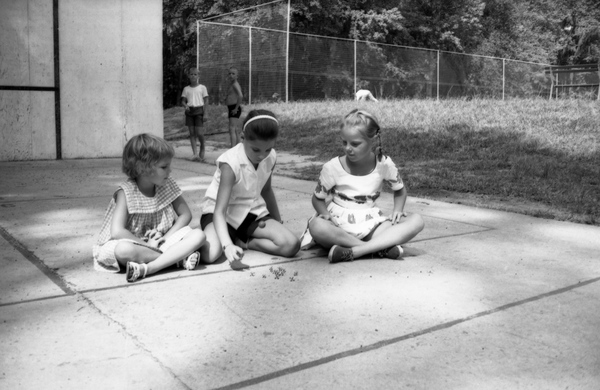 Girls Playing Jacks_Photo Credit Required._State ARchives of Florida Memory